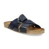 Kožené modré nazouváky bata, modrá, 866-9647 - 13