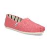 Růžové dámské slip-on toms, růžová, 519-5017 - 13
