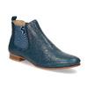 Dámské kožené modré Chelsea Boots ten-points, modrá, 516-9044 - 13