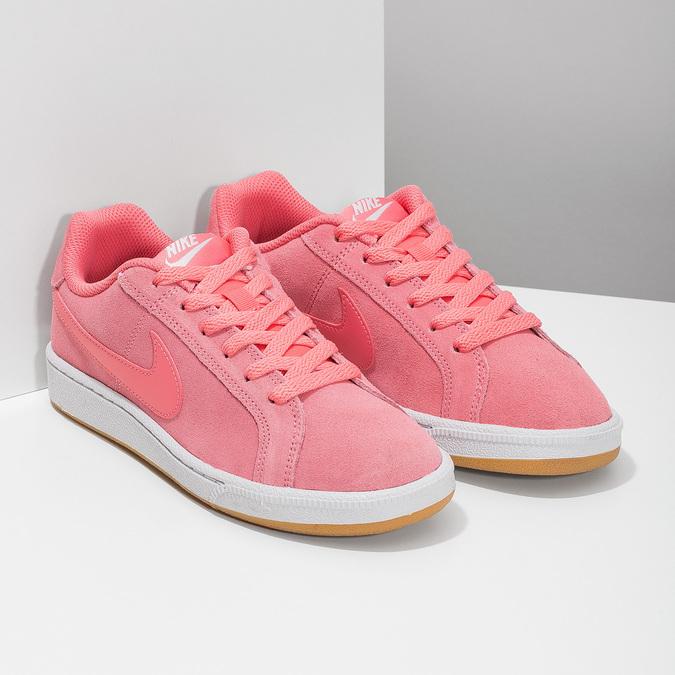 Kožené růžové dámské tenisky nike, růžová, 503-5862 - 26