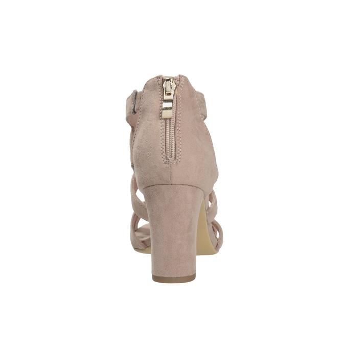 Růžové sandály na stabilním podpatku insolia, růžová, 769-5617 - 15