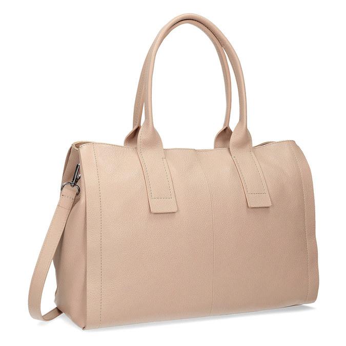 Světle béžová kožená kabelka bata, béžová, 964-8298 - 13