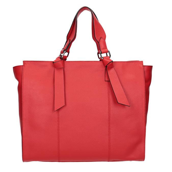Červená kožená kabelka bata, červená, 964-5296 - 16