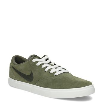 Pánské kožené khaki tenisky nike, zelená, 803-7712 - 13