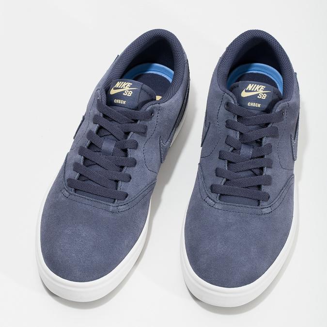 Pánské kožené tenisky modré nike, modrá, 803-9712 - 16