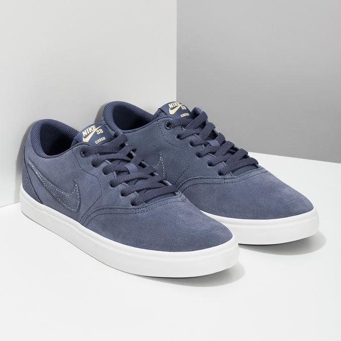 Pánské kožené tenisky modré nike, modrá, 803-9712 - 26