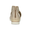 Zlaté dámské sandály na klínku bata, béžová, 569-8608 - 15