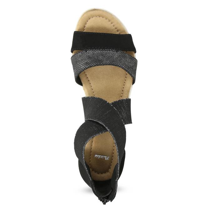 Černo-stříbrné dámské sandály bata, černá, 569-6608 - 17