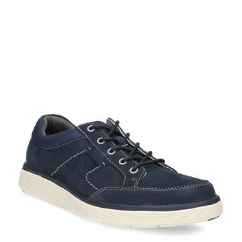 Tmavě modré kožené pánské tenisky clarks, modrá, 826-9025 - 13
