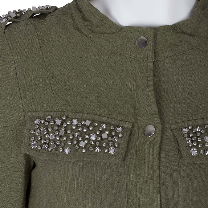 Dámská bunda v army stylu bata, zelená, 979-7112 - 16