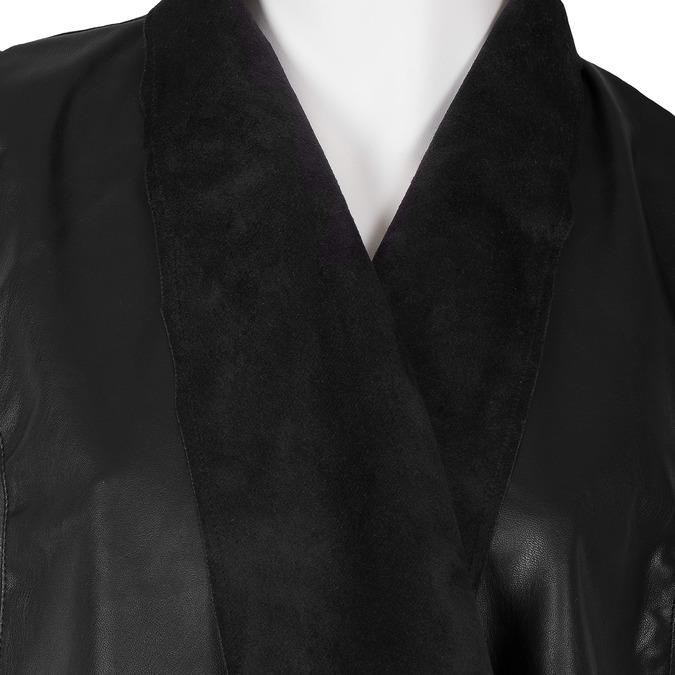 Dámská koženková vesta černá bata, černá, 971-6208 - 16