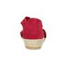 Červené kožené sandály na klínku bata, červená, 563-5600 - 15