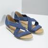 Kožené sandály na klínku modré bata, modrá, 563-9600 - 26