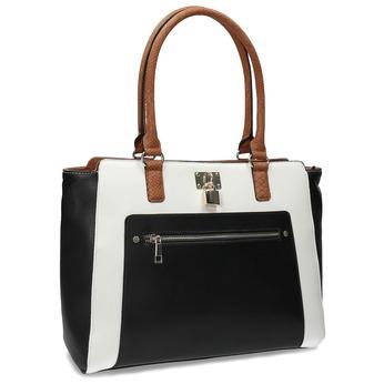 Dámská kabelka černo-bílá se zámečkem bata-red-label, vícebarevné, 961-0862 - 13