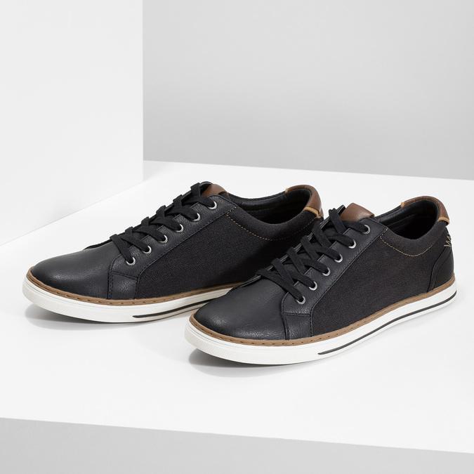 Pánské ležérní tenisky bata-red-label, černá, 841-6616 - 16
