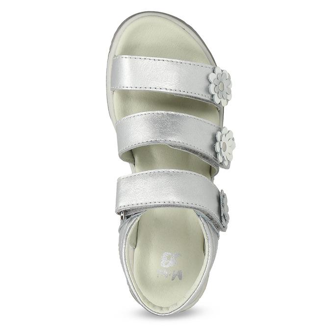 Stříbrné dívčí sandály mini-b, 364-1601 - 17