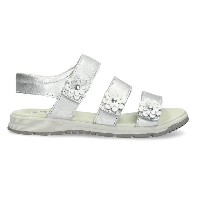 Stříbrné dívčí sandály mini-b, 364-1601 - 19