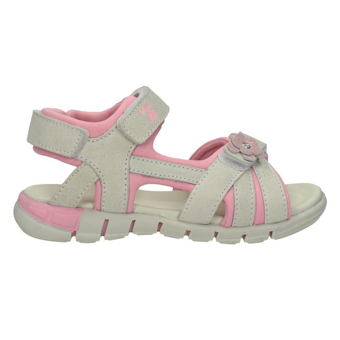 Kožené dívčí sandály s kytičkou mini-b, 263-1604 - 16
