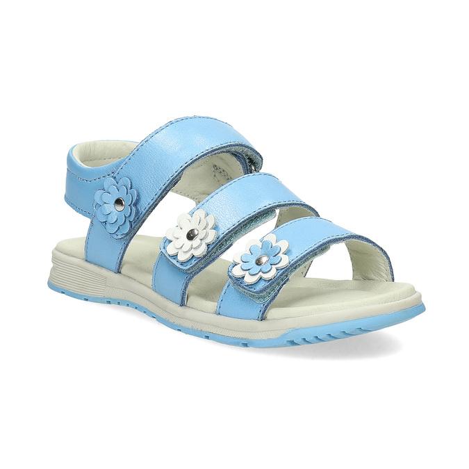 Letní dívčí sandály modré mini-b, modrá, 364-9601 - 13