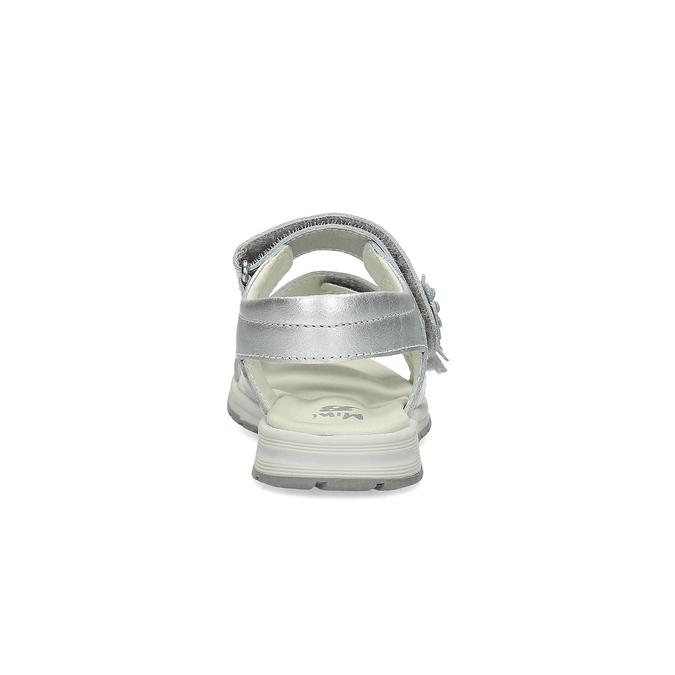 Stříbrné dívčí sandály mini-b, 364-1601 - 15