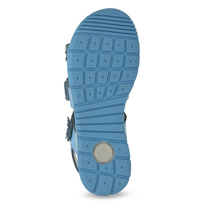 Letní dívčí sandály modré mini-b, modrá, 364-9601 - 18