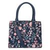 Modrá kabelka s květinovým vzorem bata-red-label, modrá, 961-9860 - 16