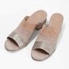 Kožené nazouváky na podpatku růžové bata, růžová, 666-8625 - 16
