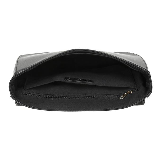 Černá prošívaná kabelka s řetízkem bata-red-label, černá, 961-6861 - 15