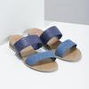 Modré dámské nazouváky na nízkém klínku bata-red-label, modrá, 561-9609 - 26