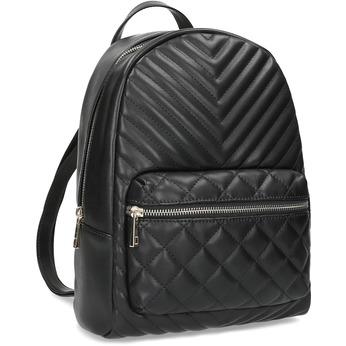 Černý městský prošívaný batoh bata-red-label, černá, 961-6864 - 13