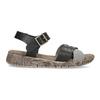 Šedo-černé kožené dámské sandály weinbrenner, černá, 566-6641 - 19