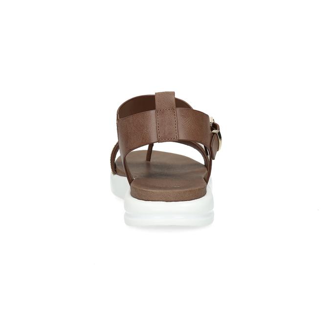Hnědé dámské sandály na výrazné podešvi bata-light, hnědá, 561-4616 - 15