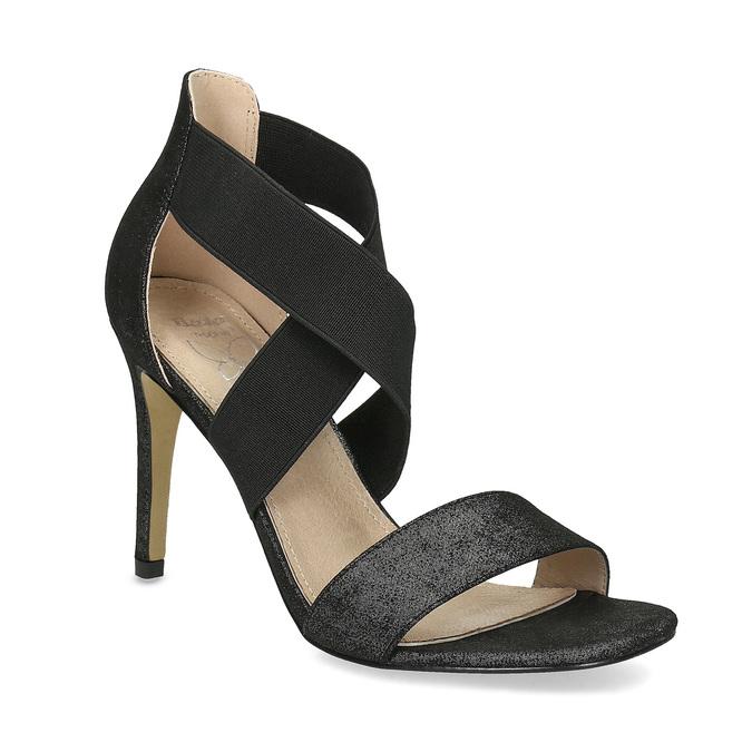 Černé sandály na jehlovém podpatku insolia, černá, 769-6625 - 13