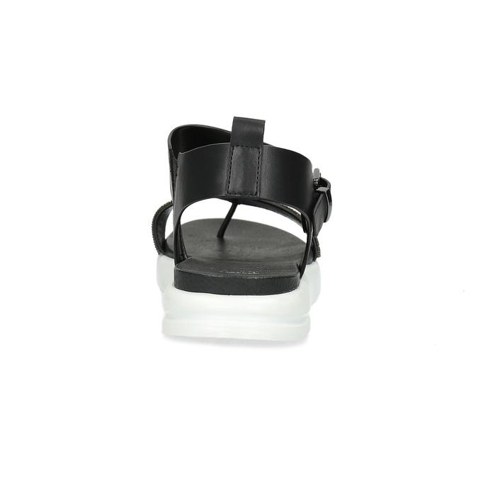 Černé dámské sandály na výrazné podešvi bata-light, černá, 561-6616 - 15