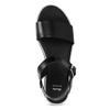 Černé dámské kožené sandály s flatformou bata, černá, 666-6634 - 17
