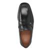 Černé kožené pánské mokasíny bata, černá, 814-6625 - 15