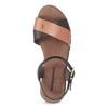 Dámské hnědé kožené sandály weinbrenner, hnědá, 566-4642 - 17
