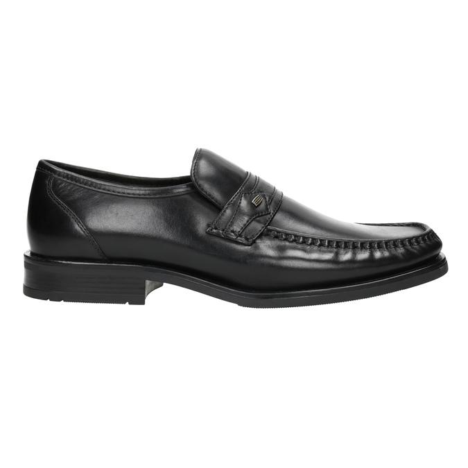 Černé kožené pánské mokasíny bata, černá, 814-6625 - 26