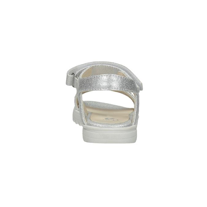 Stříbrné dívčí sandály s hvězdičkami mini-b, stříbrná, 261-1211 - 15