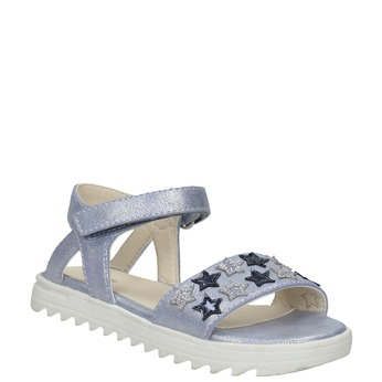 Dívčí sandály s hvězdičkami mini-b, modrá, 261-9211 - 13