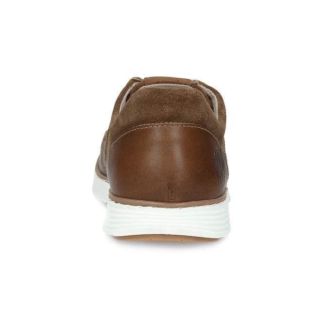 Chlapecké kožené tenisky hnědé bullboxer, hnědá, 414-4601 - 15