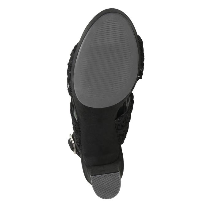 Černé dámské sandály na podpatku s propletením bata, černá, 769-6634 - 17