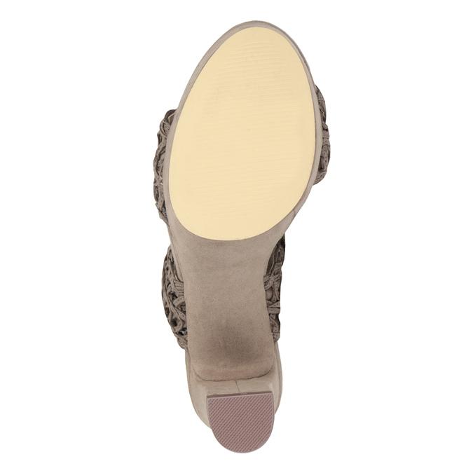 Dámské sandály na stabilním podpatku s proplétáním bata, hnědá, 769-3634 - 17