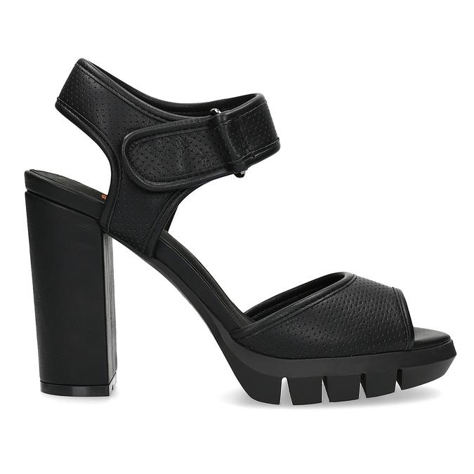 Dámské sandály na masivním podpatku flexible, černá, 761-6616 - 19
