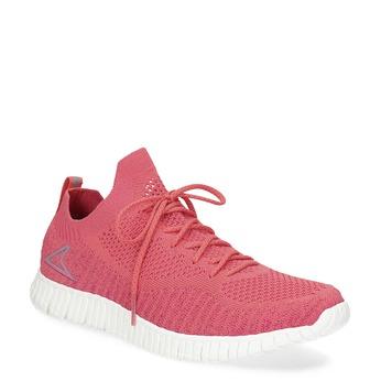 Dámské růžové úpletové tenisky power, růžová, 509-5211 - 13