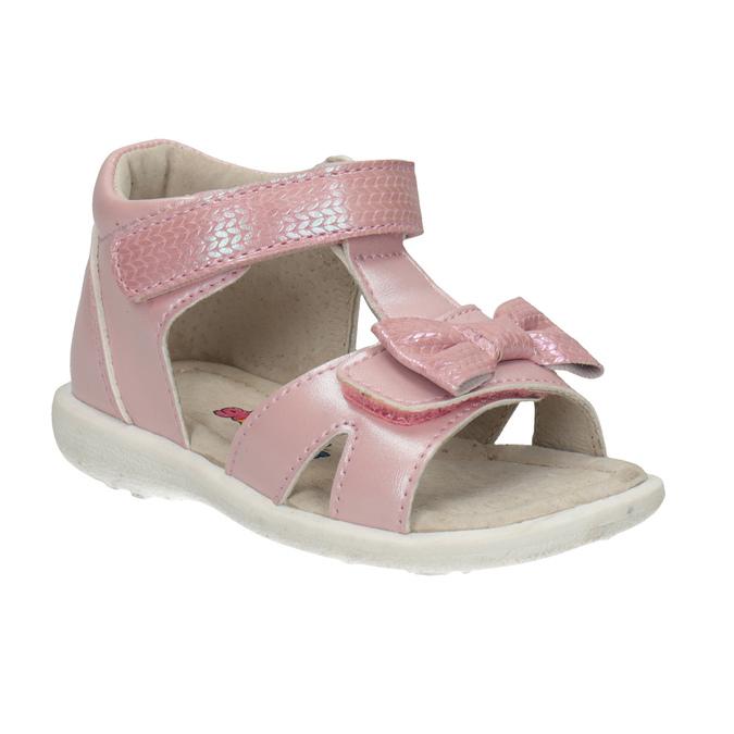 Dětské růžové sandály s mašličkou bubblegummers, růžová, 161-5608 - 13