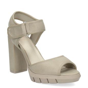Sandály na masivním podpatku flexible, béžová, 761-2616 - 13