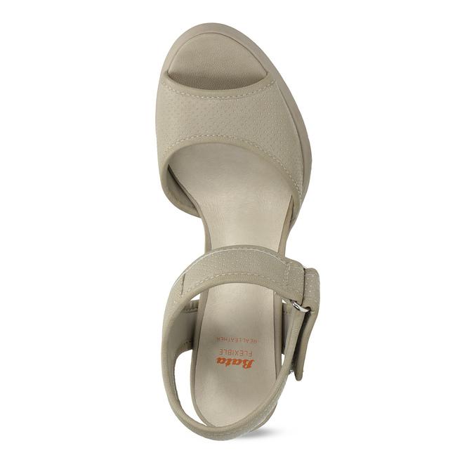 Sandály na masivním podpatku flexible, béžová, 761-2616 - 17