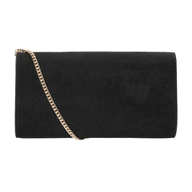 Černé psaníčko s volánem bata, černá, 969-6687 - 16