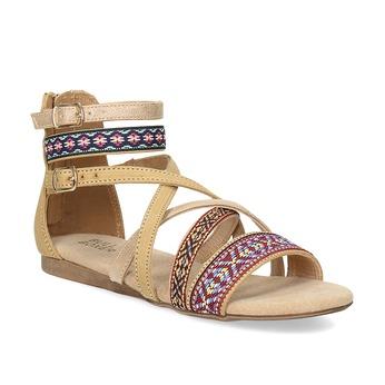 Páskové sandály v Etno stylu bullboxer, béžová, 361-8611 - 13